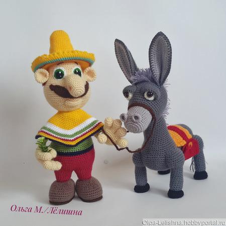 Мексиканец и Ослик ручной работы на заказ