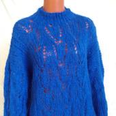 Вязаный свитер из мохера в стиле оверсайз