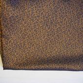 Отрезы коричневой с золотым рисунком подкладочной ткани (№ 2)