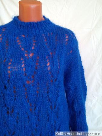 Вязаный свитер из мохера в стиле оверсайз ручной работы на заказ