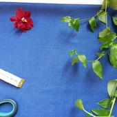 Отрезы синей костюмной ткани (№6)