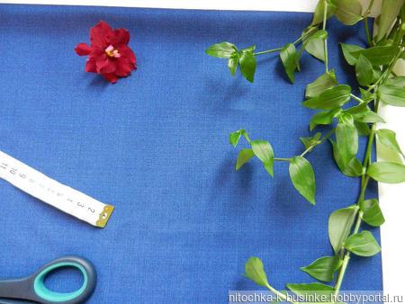 Отрезы синей костюмной ткани (№6) ручной работы на заказ