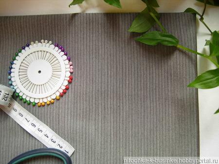 Отрез серой ткани в елочку (№9) ручной работы на заказ