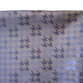 Отрезы подкладочной ткани, коричневой (темное золото) с геометрическим рисунком (№24)