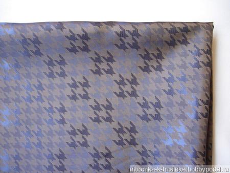 Отрезы подкладочной ткани, коричневой (темное золото) с геометрическим рисунком (№24) ручной работы на заказ