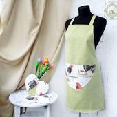 Фартук женский для кухни с петухами