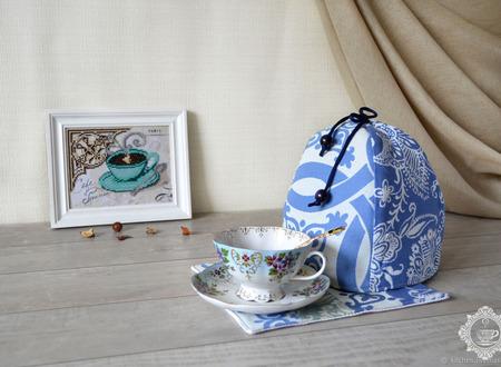 """Грелка для чайника или кружки """"Синева"""" ручной работы на заказ"""