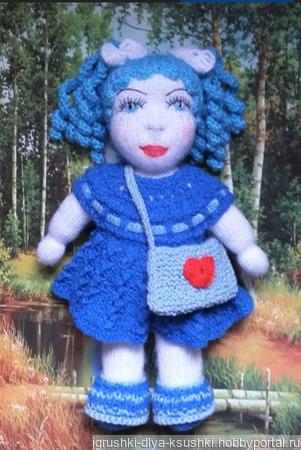 Толстушка с голубыми волосами ручной работы на заказ