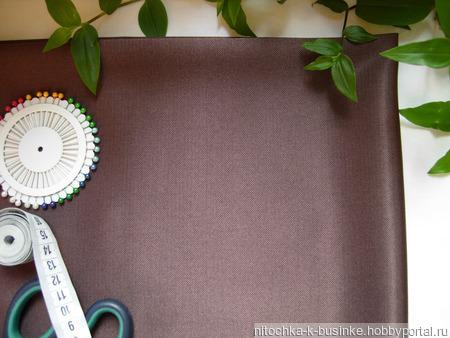Отрезы малиново-коричневой костюмной ткани (№28) ручной работы на заказ