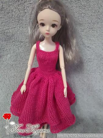 Платье кукле ручной работы на заказ