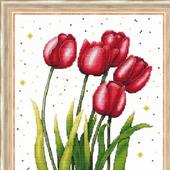 """Вышивка """"Яркие тюльпаны"""""""