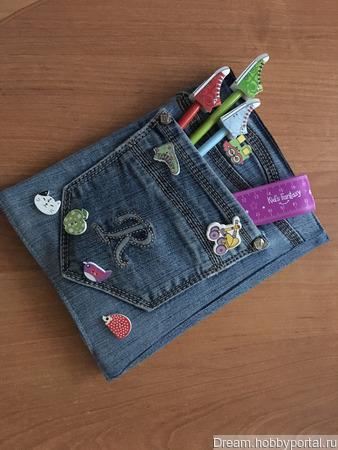 Обложка для школьного дневника (блокнота) ручной работы на заказ
