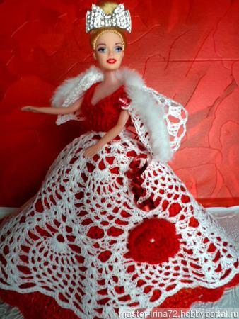 Бальное платье для Барби ручной работы на заказ