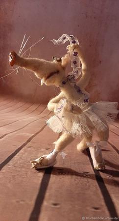 Войлочная игрушка: крыска Айседора (почти Дункан) ручной работы на заказ