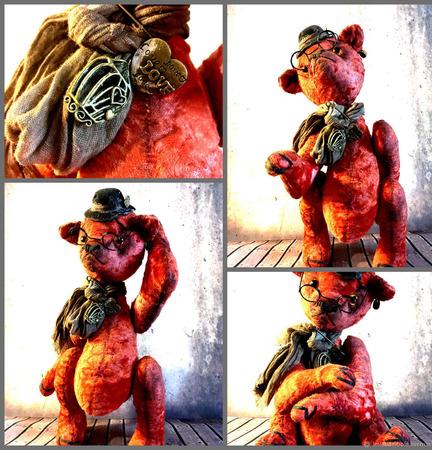"""Мишки Тедди: """"Старый-старый"""" мишка ручной работы на заказ"""