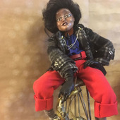 Авторская интерьерная кукла  В стиле JAZZ