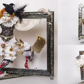 Авторская интерьерная коллекционная кукла Пьеретта