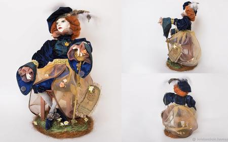 Авторская интерьерная кукла Северайн (строгая) ручной работы на заказ