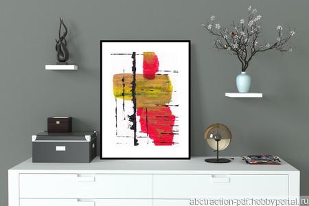Абстрактный постер (01) ручной работы на заказ