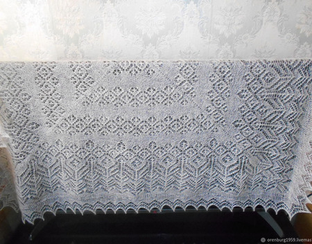 Ажурный платок ручной работы на заказ