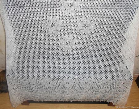 Большой ажурный платок ручной работы на заказ