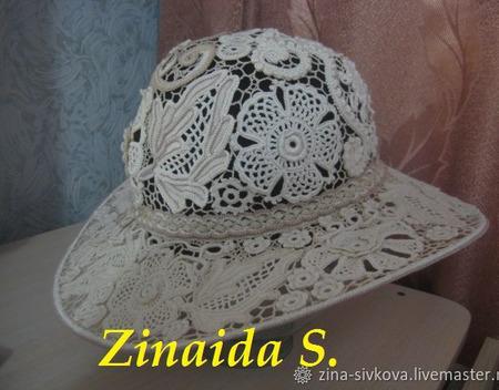 Шляпа в технике ИК ручной работы на заказ