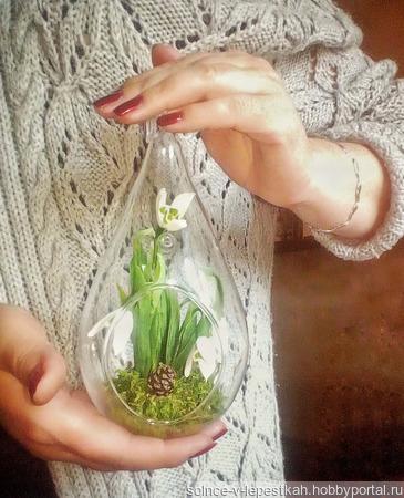 Мини-сад с подснежниками ручной работы на заказ