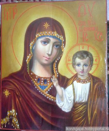 Образ пресвятыя Богородицы Казанская ручной работы на заказ