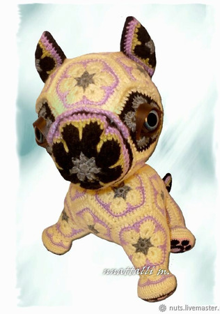 Мастер-класс на игрушку Буль DoGgy из мотива Африканский Цветок ручной работы на заказ