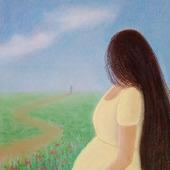 """Картина пастелью """"В ожидании"""""""