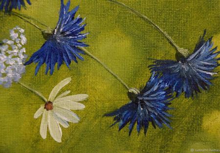 """Картина маслом """"Букет полевых цветов"""" ручной работы на заказ"""