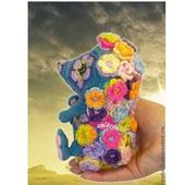 Мастер-класс ЕжеЦВетик игрушка из цветочных мотивов