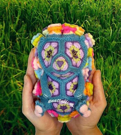 Мастер-класс ЕжеЦВетик игрушка из цветочных мотивов ручной работы на заказ