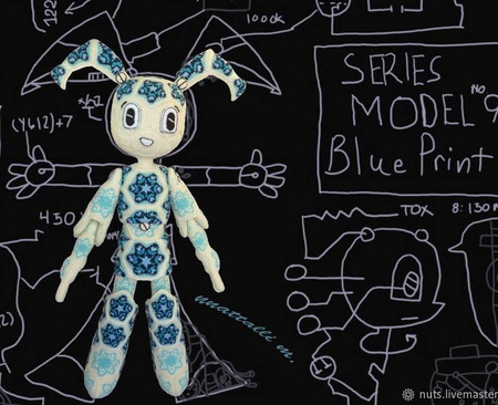 Мастер-класс Дженни XJ-9 Робо-девочка Снегурочка из мотивов ручной работы на заказ