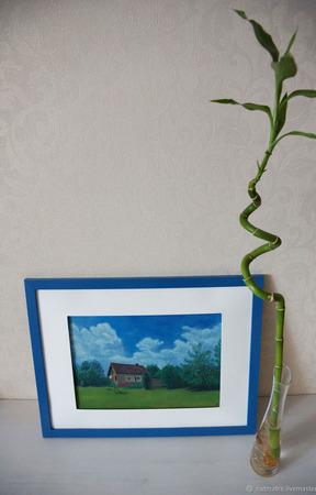 """Картина пастелью """"Дом сердца"""" ручной работы на заказ"""