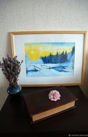 """Картина акрилом """"Мороз и солнце"""" ручной работы на заказ"""