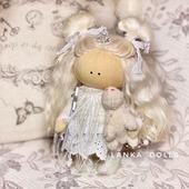 Текстильная интерьерная кукла ангелочек