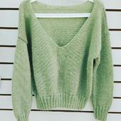Пуловер оливковый