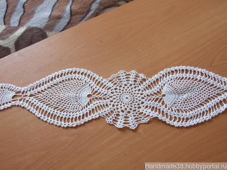 Салфетка вязаная декоративная ручной работы на заказ