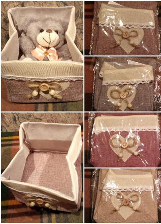 """Текстильная корзинка """"Сердце"""" ручной работы на заказ"""