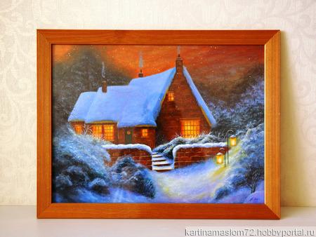 """Картина акрилом """"Сказочный домик"""" ручной работы на заказ"""