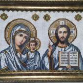 Икона Божья матерь и Вседержитель