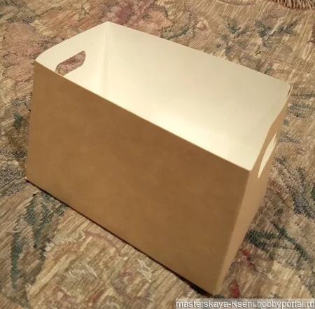 Крафт коробка ручной работы на заказ