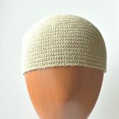 Безразмерная шапка из конопляной пряжи