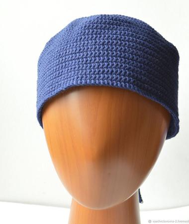 Безразмерная шапка из хлопка ручной работы на заказ