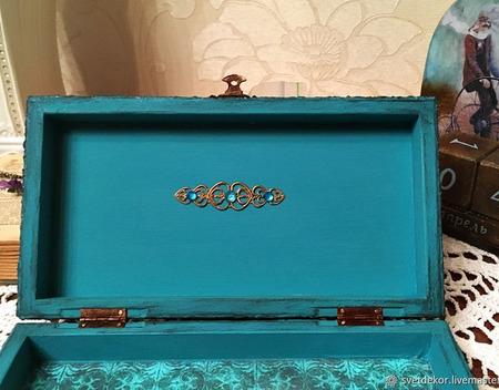 Купюрница-шкатулка для денег, декупаж ручной работы на заказ
