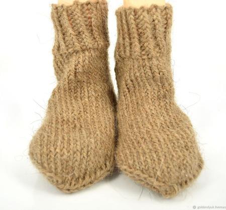 Детские носки из верблюжьей шерсти ручной работы на заказ