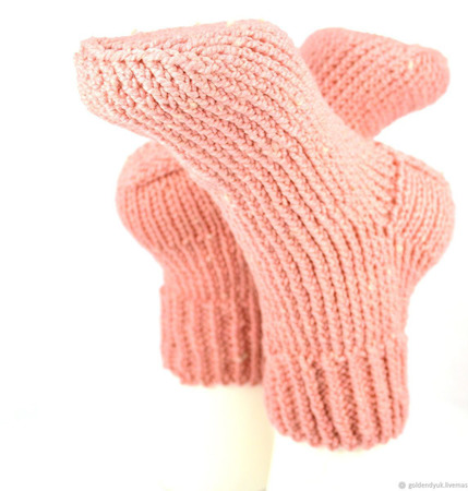 Толстые тёплые вязаные носки ручной работы на заказ