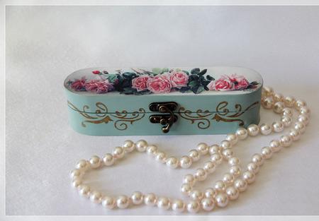 "Шкатулка ""Rose Garden"" ручной работы на заказ"