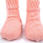 Розовые пуховые носки для детей